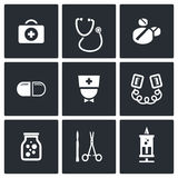 Medicine icons set Royalty Free Stock Photography