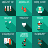 Medicine icons set Stock Images