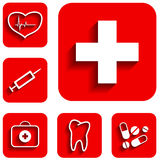 Medicine icons set Stock Photos