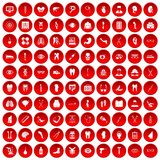 100 medicine icons set red. 100 medicine icons set in red circle isolated on white vector illustration vector illustration