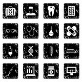 Medicine icons set, simple style Royalty Free Stock Photo