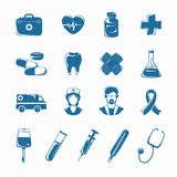 Medicine Icons Set stock illustration