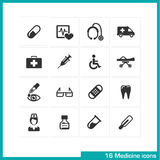 Medicine icons set. Royalty Free Stock Photography