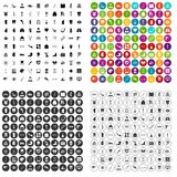 100 medicine icons set vector variant. 100 medicine icons set vector in 4 variant for any web design isolated on white Royalty Free Stock Photography