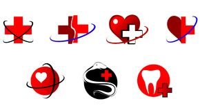 Medicine icons and signs Royalty Free Stock Image