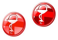 Medicine icons and signs Stock Images