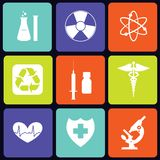 Medicine icons square Stock Image