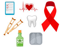 Medicine icons and symbols Stock Image