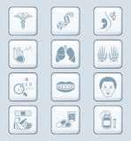 Medicine icons | TECH series Royalty Free Stock Images