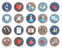 Medicine icons vector set Stock Photography