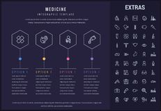 Medicine infographic template, elements and icons. Royalty Free Stock Image