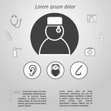Medicine infographic template Royalty Free Stock Image