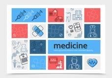 Medicine Infographic Template Stock Photo
