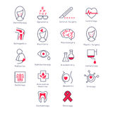 Medicine Kinds. Vector Illustration Set Stock Photography