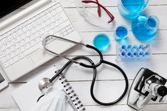 Medicine and laboratory tools Stock Photos