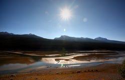Medicine Lake in Jasper Stock Image