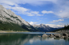 Medicine Lake in Jasper National Park stock photos