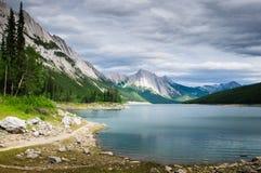 Medicine Lake, Jasper National Park Royalty Free Stock Photos