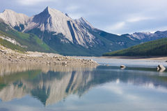 Medicine Lake, Jasper National Park Royalty Free Stock Photo