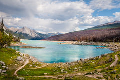 Medicine Lake- Jasper National Park- Alberta- CA Stock Photo