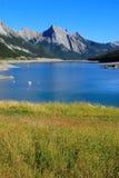 Medicine lake in Jasper national park, Alberta, Canada Stock Photography