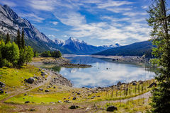 Medicine Lake, Jasper National Park, Alberta, Canada Royalty Free Stock Images