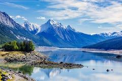Medicine Lake, Jasper National Park, Alberta, Canada Stock Images