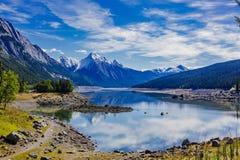 Medicine Lake, Jasper National Park, Alberta, Canada Royalty Free Stock Photo