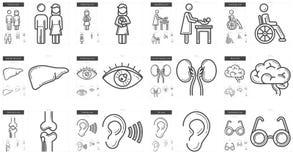 Medicine line icon set. Stock Images