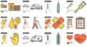 Medicine line icon set. Royalty Free Stock Photo