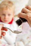 Medicine liquid syrup for flu and cold healthcare Stock Photos