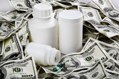 Medicine and money Royalty Free Stock Photos