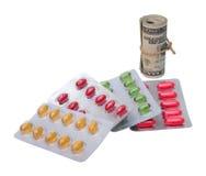 Medicine and money Stock Photos