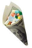 Medicine and money Royalty Free Stock Images