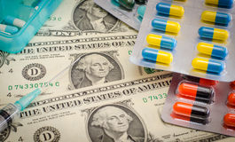 Medicine and money Stock Photos