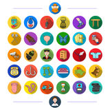 Medicine, nature, entertainment and other web icon in flat style., sport, business, fishing, icons in set collection. Stock Photo