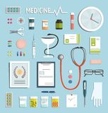 Medicine Objects and Medicament Collection Stock Image