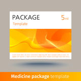 Medicine package template. Stock Images