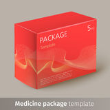Medicine package template. Designed text. Vector illustration Stock Images