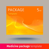 Medicine package template. Stock Photo
