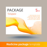 Medicine package template. Stock Image