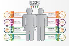 Medicine phamacy infographic 4 step set.Healthcare and medical research infographic set.Flat style.Modern flat design graphic