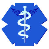 Medicine pharmaceutical sign. Medical caduceus Stock Photo