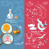 Medicine Pharmaceuticals Laboratory Transplantation Banners Stock Photo