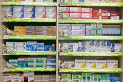 Medicine in a pharmacy Stock Photo