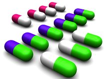 Medicine pills Royalty Free Stock Photography