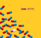 Medicine pills  background. Colorful tablets and capsules.Useful Stock Photography