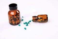 Medicine pills bottle Stock Images