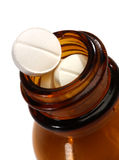 Medicine pills in a bottle Royalty Free Stock Photography
