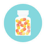 Medicine Pills Bottle Icon Royalty Free Stock Image
